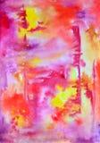 Fondo rosado abstracto de la acuarela Foto de archivo libre de regalías