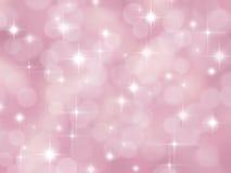 Fondo rosado abstracto del boke con las estrellas stock de ilustración