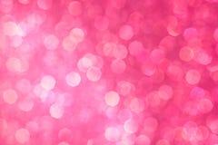 Fondo rosado abstracto del bokeh Día de fiesta hermoso Fotos de archivo libres de regalías
