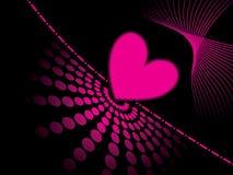 Fondo rosado abstracto del corazón Foto de archivo libre de regalías