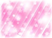 Fondo rosado borroso con las estrellas Abstracci?n Tema de la Navidad stock de ilustración