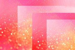Fondo rosado brillante de cubos y de líneas con las chispas defocused del efecto del bokeh por días de fiesta ilustración del vector