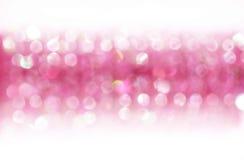 Fondo rosado con el bokeh Imagenes de archivo