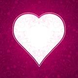 Fondo rosado con el corazón grande Imagen de archivo libre de regalías