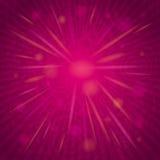 Fondo rosado con las flores y los corazones, vector Fotografía de archivo libre de regalías