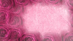 Fondo rosado con las rosas Imágenes de archivo libres de regalías