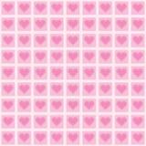 Fondo rosado con los corazones rosados delicados Imágenes de archivo libres de regalías