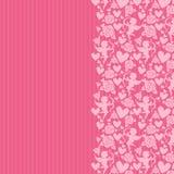 Fondo rosado con los corazones y el cupidon Foto de archivo libre de regalías