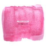 Fondo rosado de la acuarela Foto de archivo libre de regalías