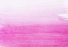 Fondo rosado de la acuarela Fotografía de archivo libre de regalías