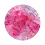 Fondo rosado de la acuarela Imagen de archivo