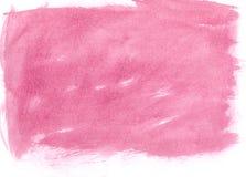 Fondo rosado de la acuarela Fotos de archivo