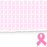 fondo rosado de la ayuda del cáncer de pecho de la cinta Foto de archivo libre de regalías