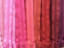 fondo rosado de la cremallera del tono Imagen de archivo