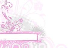 Fondo rosado de la flor ilustración del vector