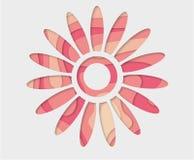 Fondo rosado de la flor Flor abstracta del vector Corte de papel del arte fotos de archivo