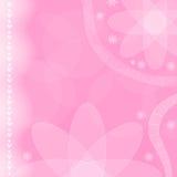 fondo rosado de la flor y del corazón Fotos de archivo