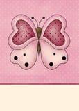 Fondo rosado de la mariposa Imagenes de archivo