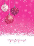 Fondo rosado de la Navidad Foto de archivo