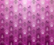 Fondo rosado de la Navidad Foto de archivo libre de regalías