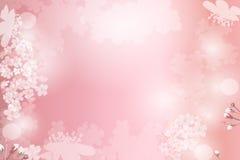 Fondo rosado de la planta Imagenes de archivo