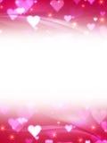 Fondo rosado de las tarjetas del día de San Valentín libre illustration