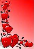 Fondo rosado de las tarjetas del día de San Valentín Foto de archivo