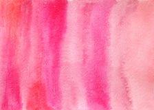 Fondo rosado de las texturas abstractas exhaustas de la acuarela de la mano imagen de archivo