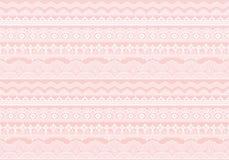 Fondo rosado de los ajustes del cordón Foto de archivo libre de regalías