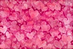 Fondo rosado de los corazones Imágenes de archivo libres de regalías