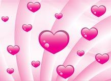 Fondo rosado de los corazones Fotos de archivo libres de regalías