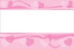 Fondo rosado de los corazones con el copyspace. libre illustration