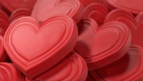 Fondo rosado de los corazones del chocolate Fotografía de archivo libre de regalías
