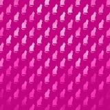 Fondo rosado de los gatos de Cat Pattern Faux Foil Metallic de la silueta Foto de archivo