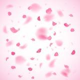 Fondo rosado de los pétalos stock de ilustración