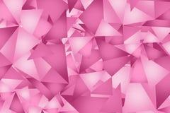 Fondo rosado de los triángulos Fotos de archivo
