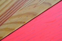 Fondo rosado de madera de la pintura texturizado coloreado Fotografía de archivo libre de regalías