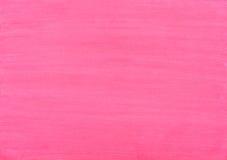 Fondo rosado de movimientos de la acuarela Fotografía de archivo