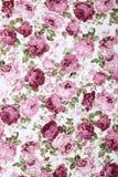 Fondo rosado de Rose Fabric, fragmento de la tapicería retra colorida Imagen de archivo