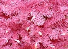 Fondo rosado del árbol de navidad Imagen de archivo