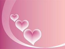 Fondo rosado del amor Foto de archivo