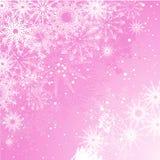 Fondo rosado del copo de nieve Imágenes de archivo libres de regalías