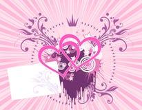 Fondo rosado del corazón Imagenes de archivo