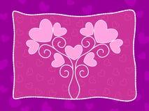 Fondo rosado del corazón con la ilustración del amor Imagen de archivo libre de regalías