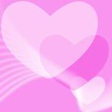 Fondo rosado del día de tarjetas del día de San Valentín Imagen de archivo