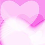 Fondo rosado del día de tarjetas del día de San Valentín Fotos de archivo libres de regalías