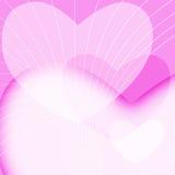 Fondo rosado del día de tarjetas del día de San Valentín Foto de archivo