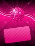 Fondo rosado del disco Fotos de archivo