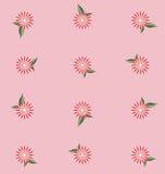 Fondo rosado del estampado de plores Foto de archivo