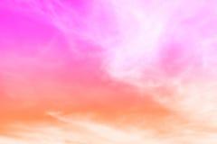 Fondo rosado del extracto del cielo de la nube imagenes de archivo